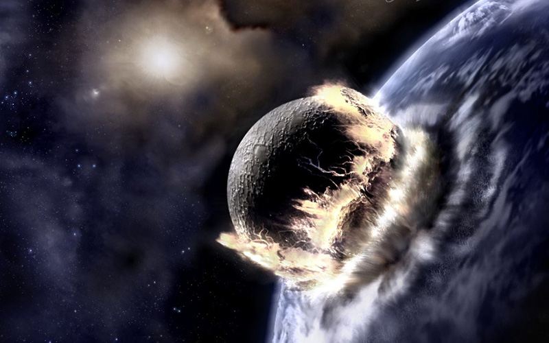 earth collision with Theia planet