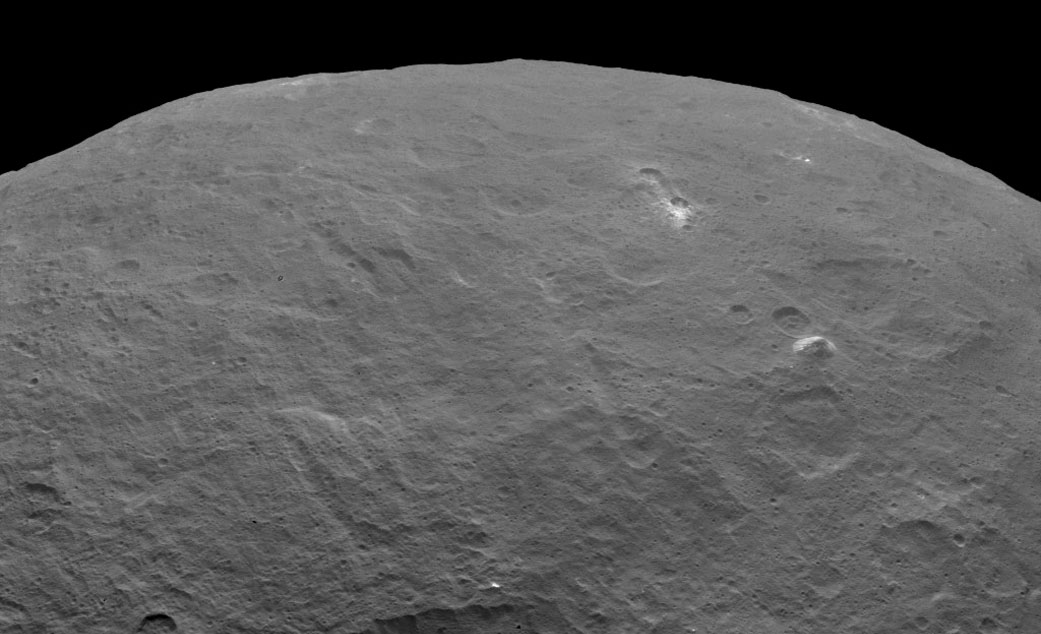 Pyramid mountain on Ceres spotted by NASA