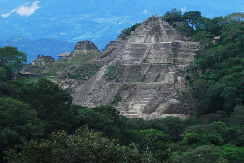 Tonina Chiapas pyramid at 75m high one of the largest ever found
